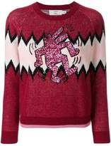 Coach X Keith Haring Zigzag sweater