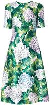 Dolce & Gabbana hydrangea print dress - women - Silk/Polyester/Spandex/Elastane - 40