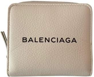 Balenciaga White Leather Wallets