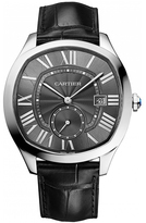 Cartier Drive WSNM0006 Men's Stainless Steel and Black Leather Automatic Watch