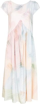 Collina Strada Mariposa watercolour-print midi dress