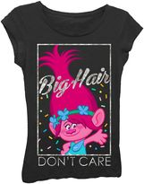 "Girls 7-16 DreamWorks Trolls Poppy ""Big Hair Don't Care"" Graphic Tee"
