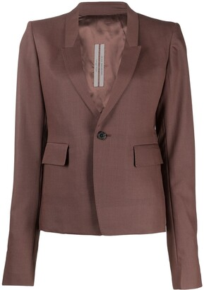Rick Owens Fitted Tailored Blazer