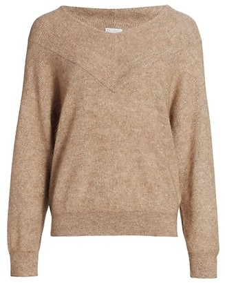 Brunello Cucinelli Oversized V-Neck Sweater