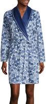 SLEEP CHIC Sleep Chic Long Sleeve Fleece Wrap Robe