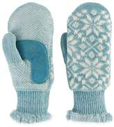Isotoner Women's Snowflake Knit Mittens