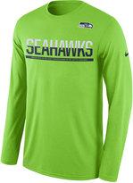 Nike Men's Seattle Seahawks Team Practice Long Sleeve T-Shirt