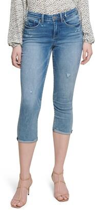 NYDJ Chloe Raw Cuff Capri Jeans