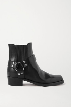 RE/DONE Cavalry Leather Ankle Boots - Black
