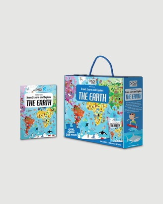 Sassi - Blue Educational & Science Toys - Travel, Learn and Explore Puzzle & Book Set - The Earth - Size One Size at The Iconic