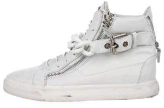 Giuseppe Zanotti Leather Chain-Link Sneakers