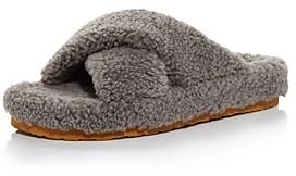 Aqua Women's Fluff Faux Shearling Slide Slippers - 100% Exclusive
