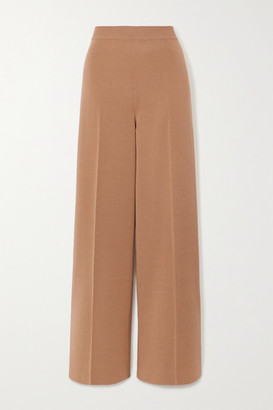 Loro Piana Cashmere And Silk-blend Wide-leg Pants - Camel