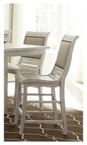Progressive Willow Counter Upholstered Dining Chair - Distressed White (Set Of 2)