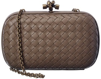 Bottega Veneta Intrecciato Leather Chain Knot Clutch