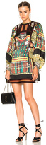 Etro Liquorice Mini Dress in Abstract,Green,Purple,Red,Yellow.