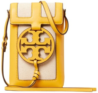 Tory Burch Miller Leather & Canvas Phone Pouch