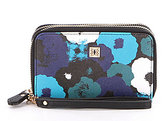 Kate Landry Cabana Floral Double Zip-Around RFID Wallet