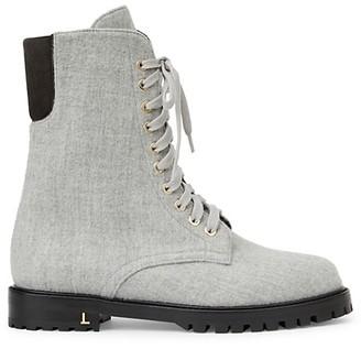 Lafayette 148 New York Fineley Cashmere & Wool Combat Boots
