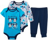 Disney Disney's Mickey Mouse Baby Boy 3-pc. Bodysuit & Pants Set