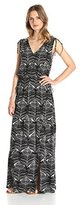 Lark & Ro Women's Sleeveless Multi-Tiered Maxi Dress
