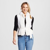 XOXO Women's Faux Fur Collar Vest Juniors')