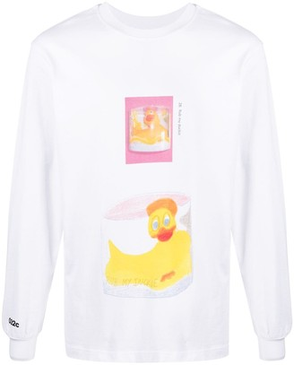 032c duck print long-sleeve T-shirt