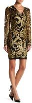 Alexia Admor V-Neck Sequin Dress