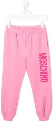 MOSCHINO BAMBINO TEEN logo print sweatpants