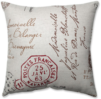 "Pillow Perfect, Inc. French Postale 16.5"" Throw Pillow"
