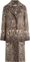 Alberta Ferretti Printed Coat with Virgin Wool and Alpaca Wool