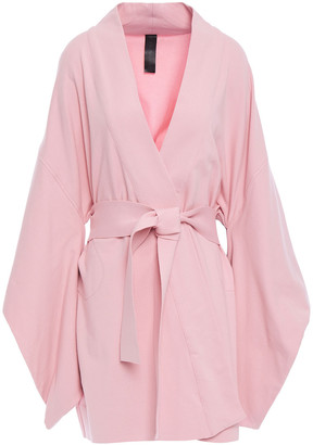 Norma Kamali Belted French Cotton-blend Terry Kimono