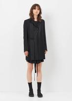 Ann Demeulemeester lightlain black/rigatino black slash pocket coat
