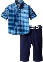 Ralph Lauren Poplin Gingham Pants Set (Infant)