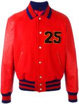 Gucci Web collar bomber jacket