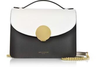 Le Parmentier New Ondina Color Block Flap Top Leather Satchel Bag