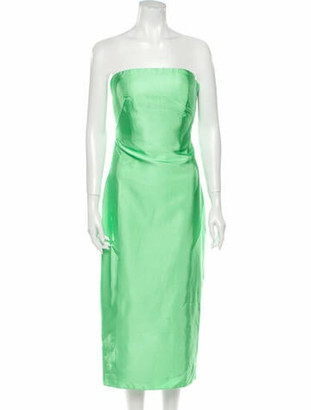 Brandon Maxwell 2019 Midi Length Dress Green