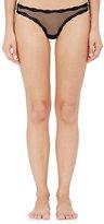 Fleur Du Mal Women's Lace-Trimmed Sheer Thong