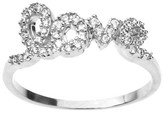 Journee Collection 3/8 CT. T.W. Round Cut CZ Pave Set Love Ring in Sterling Silver