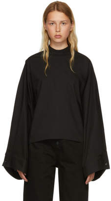 MM6 MAISON MARGIELA Black Parachute Poplin Blouse