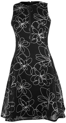 DKNY Occasion Occasion Fit Flare Zip Detail Dress
