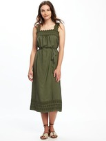 Old Navy Lace-Yoke Tie-Waist Dress for Women