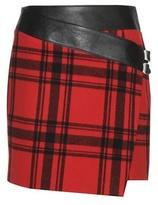 Saint Laurent Tartan Wool Miniskirt