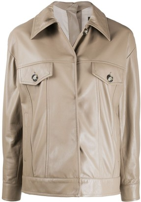 Simonetta Ravizza Leather Short Jacket