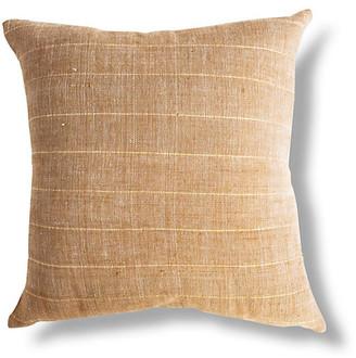 Bole Road Textiles Negus 18x18 Pillow - Tan