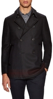 John Varvatos Wool Engineered Stripe Peacoat