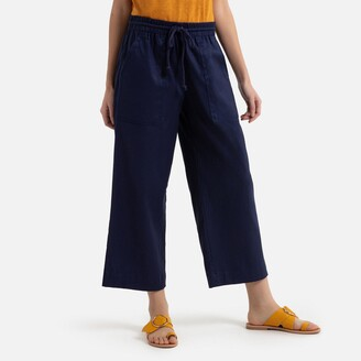Benetton Linen/Cotton Wide pants with Elasticated Waist to Tie