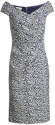 Cap-Sleeve Shimmer Cocktail Dress