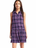 Gap Plaid drop waist dress