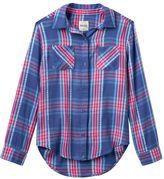 Mudd Girls 7-16 & Plus Size Button-Front Plaid Shirt